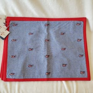Vineyard Vines Target 4 Placemats Whale Gingham